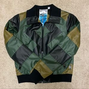 L.A.M.B. Green / Black Camo color Bomber jacket
